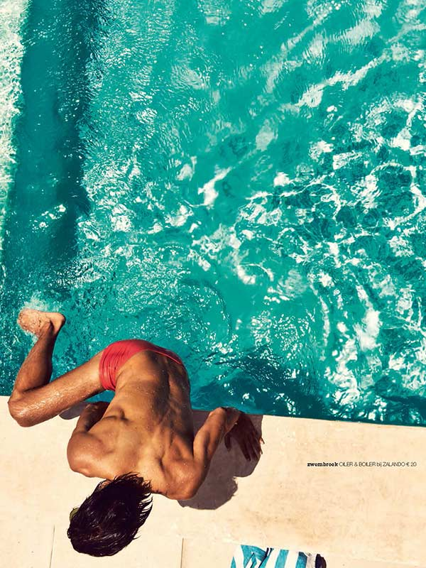 Tim Oliehoek for L'HOMO Magazine on Curacao as American Gigolo