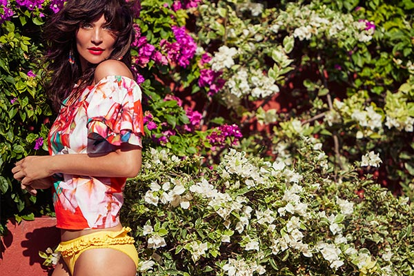 Top Fashion Model Helena Christensen on Curacao