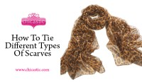 How To Tie Different Types of Scarves | chicastic