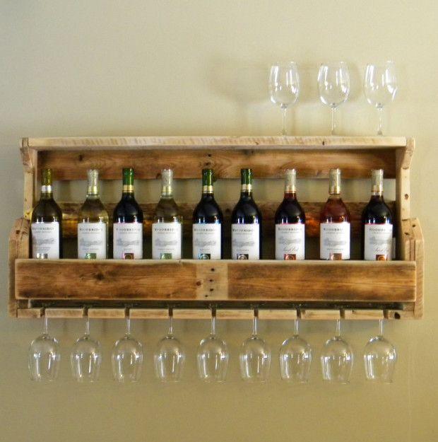 rack  vin palette de bois bricolage palette de bois