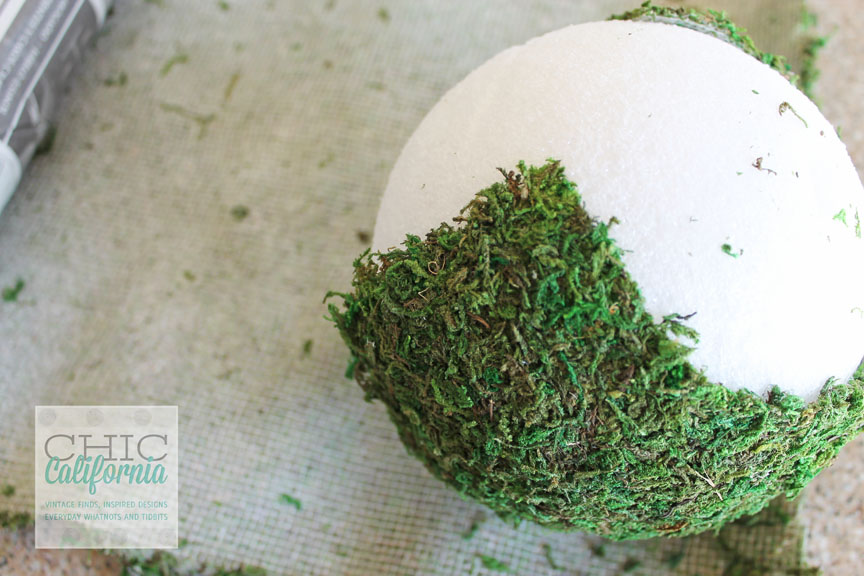 DIY Moss Covered Garden Balls