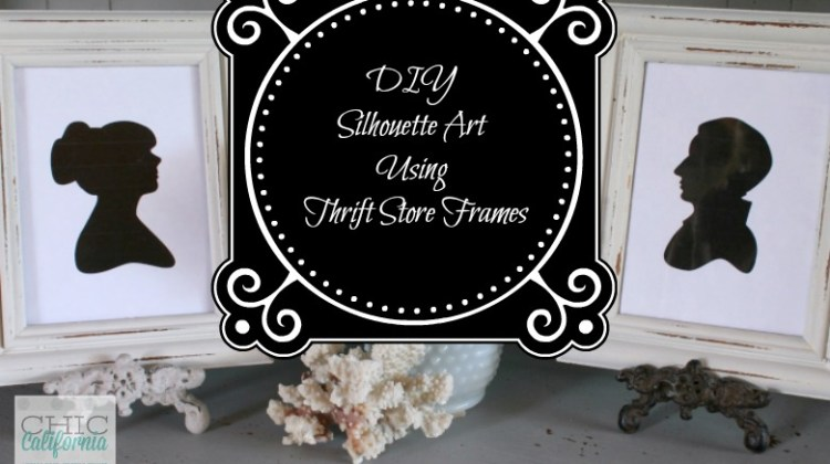 DIY Silhouette Art Using Thrift Store Frames