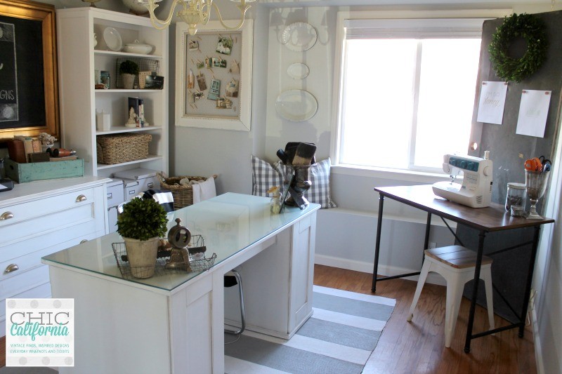 Home Craft Room: Home Office/Craft Room Makeover Reveal