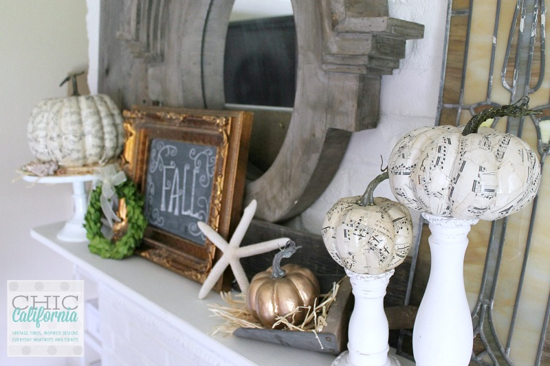 Fall Mantel By Chic California