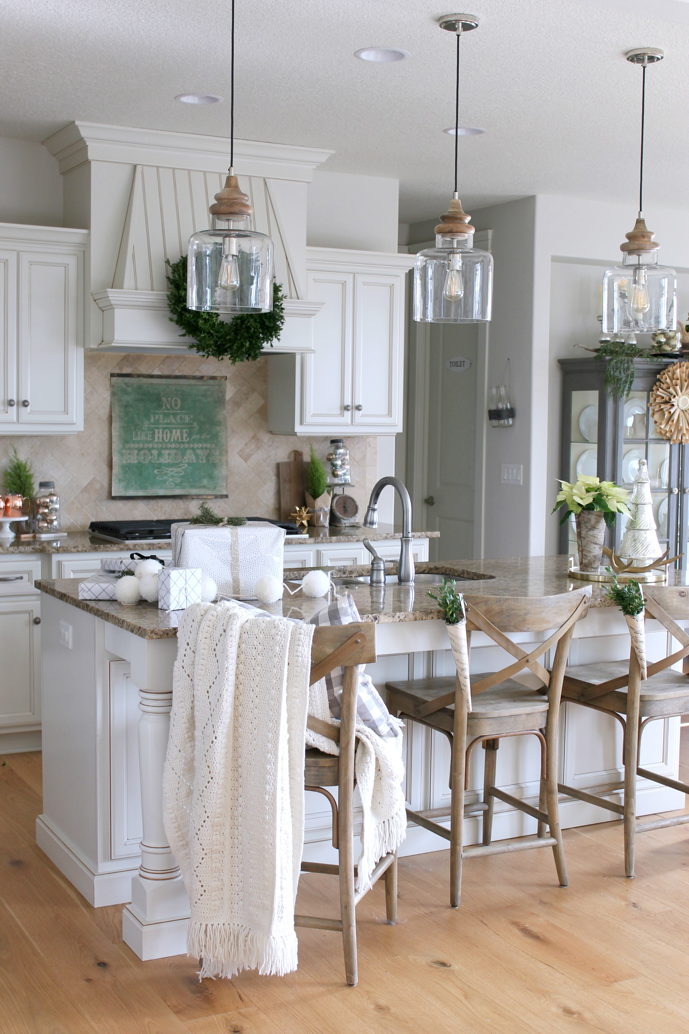 hanging lights kitchen brushed nickel cabinet hardware new farmhouse style island pendant chic california
