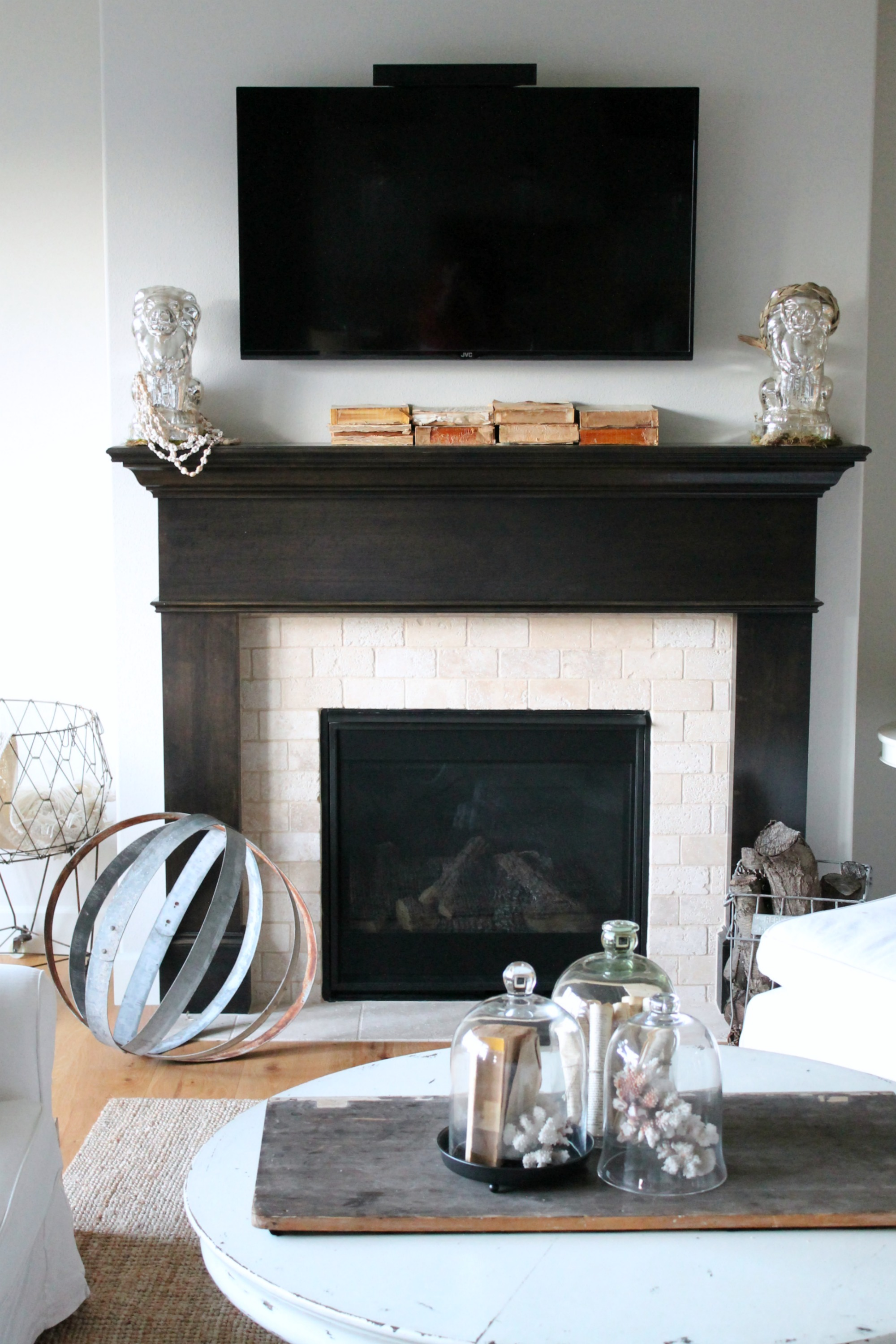 Java Stained Fireplace Mantel