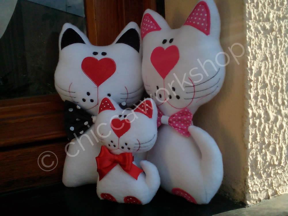 Happy Cat Softies ITH (in the hoop) - Digital Download