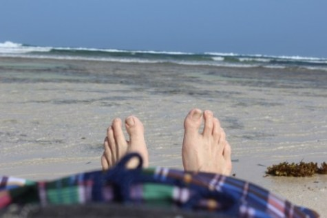 Kenya Diani Beach feet