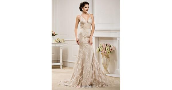 Trumpet/Mermaid Plus Sizes Wedding Dress