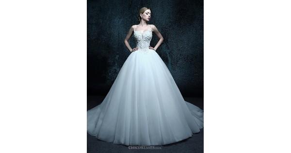 Ball Gown Chapel Train Wedding Dress