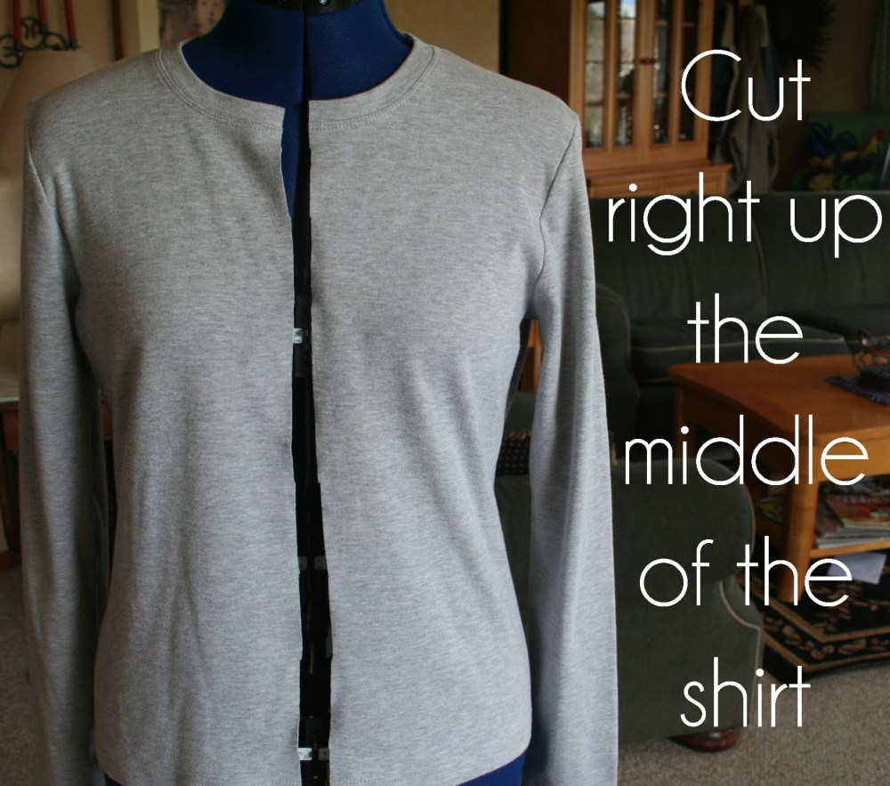 DIY Ruffled T Shirt Cardigan Tutorial (3/6)