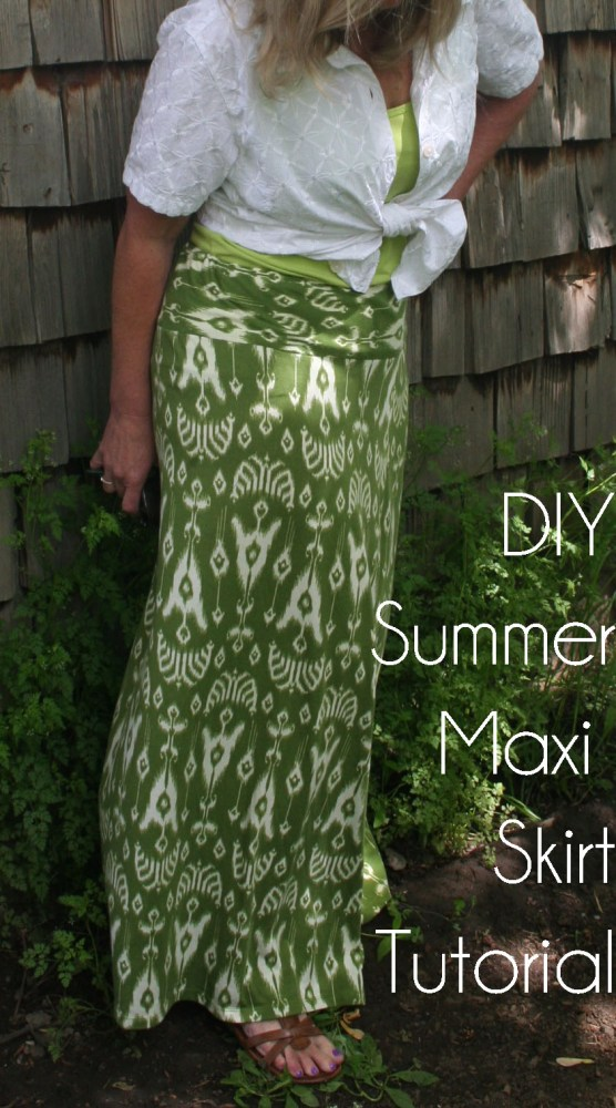 DIY Summer Maxi Skirt Refashion Tutorial (1/6)