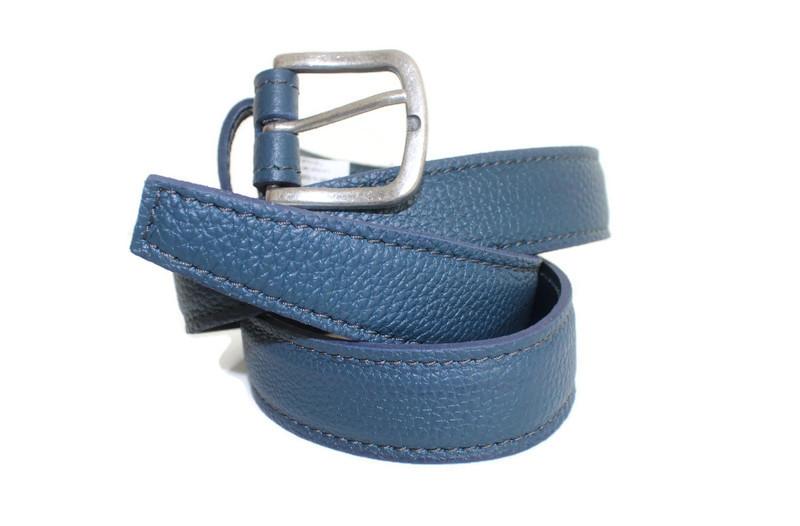 Ceintuire cuir bleu Jeans