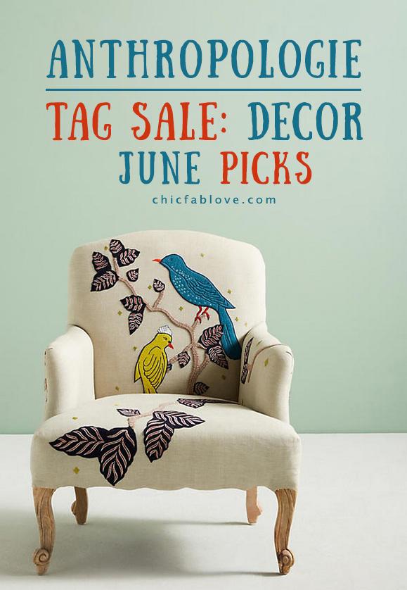 Anthropologie Tag Sale Home Decor Picks for June
