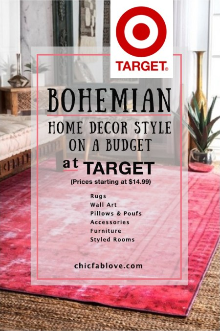 Bohemian Home Decor Style on a Budget at Target