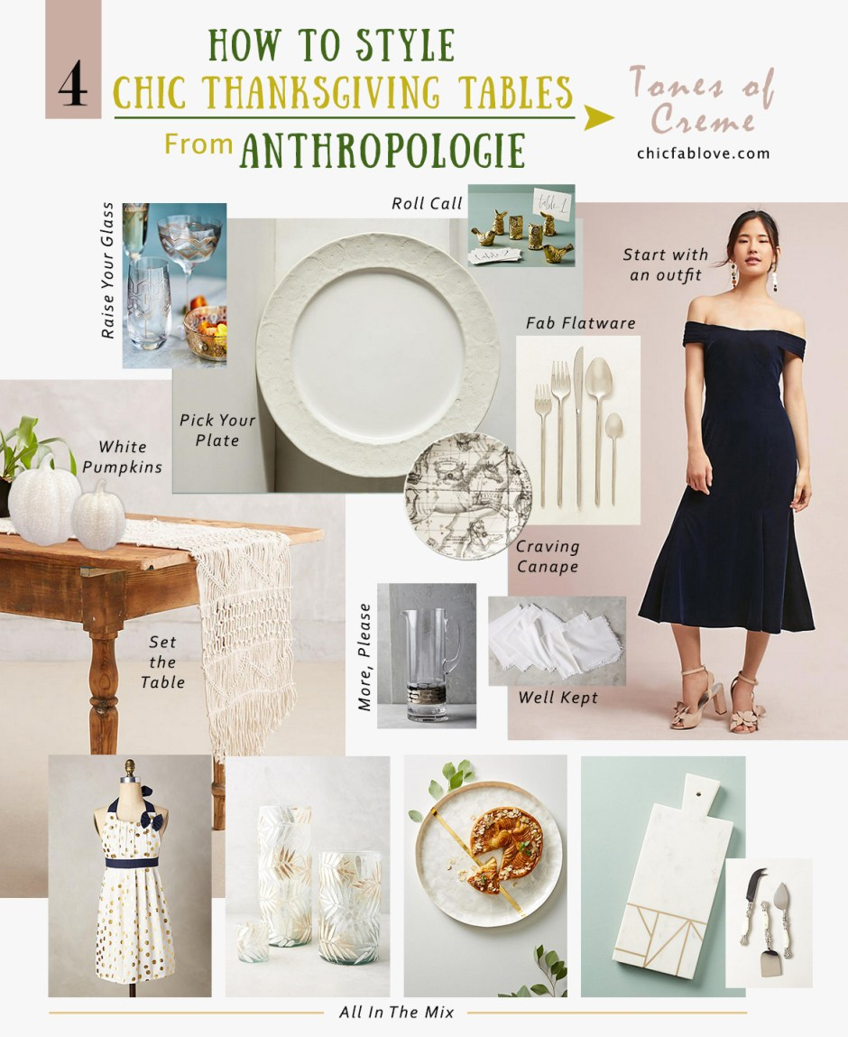 How to Style 4 Chic Thanksgiving Tables from Anthropologie