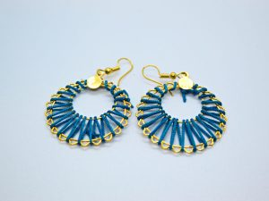 Silk Thread Drop Earring
