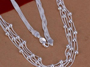 Silver Beads Choker Necklace