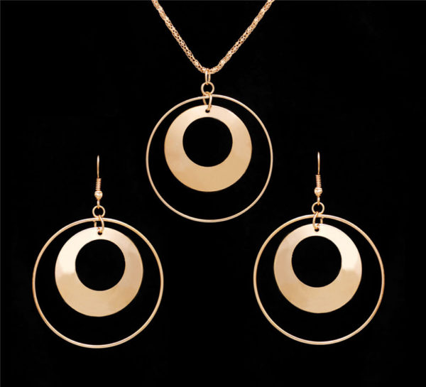 Circle necklace jewel set