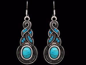Blue Drop Earring