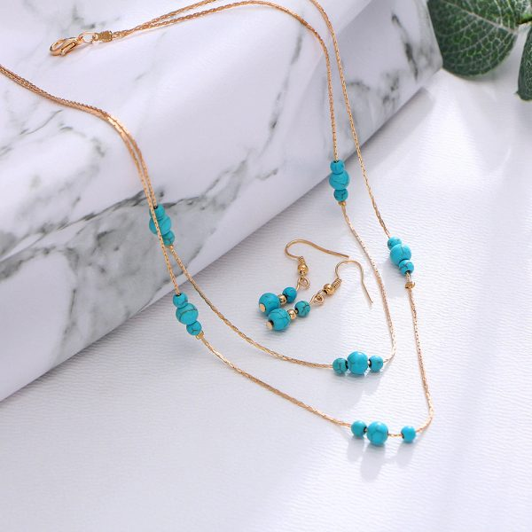 Green Necklace Gold