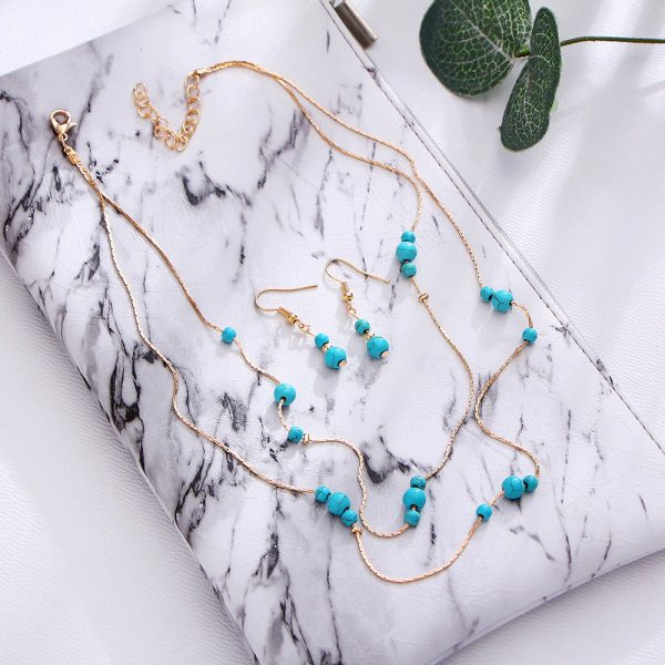 Green-Multi-Layer-Necklace-Gold