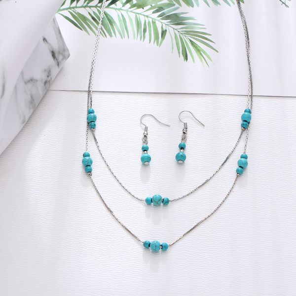 Green Necklace Silver