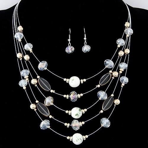 Black Crystal Necklace