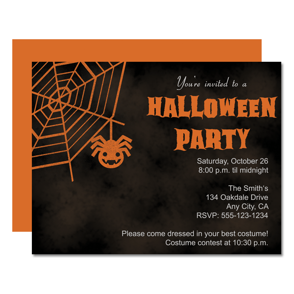 Anniversary birthday cheer up congratulations engagement events & occasions friendship get well good luck grandparents day holidays. Spider Web Halloween Printable Party Invitation Chicfetti