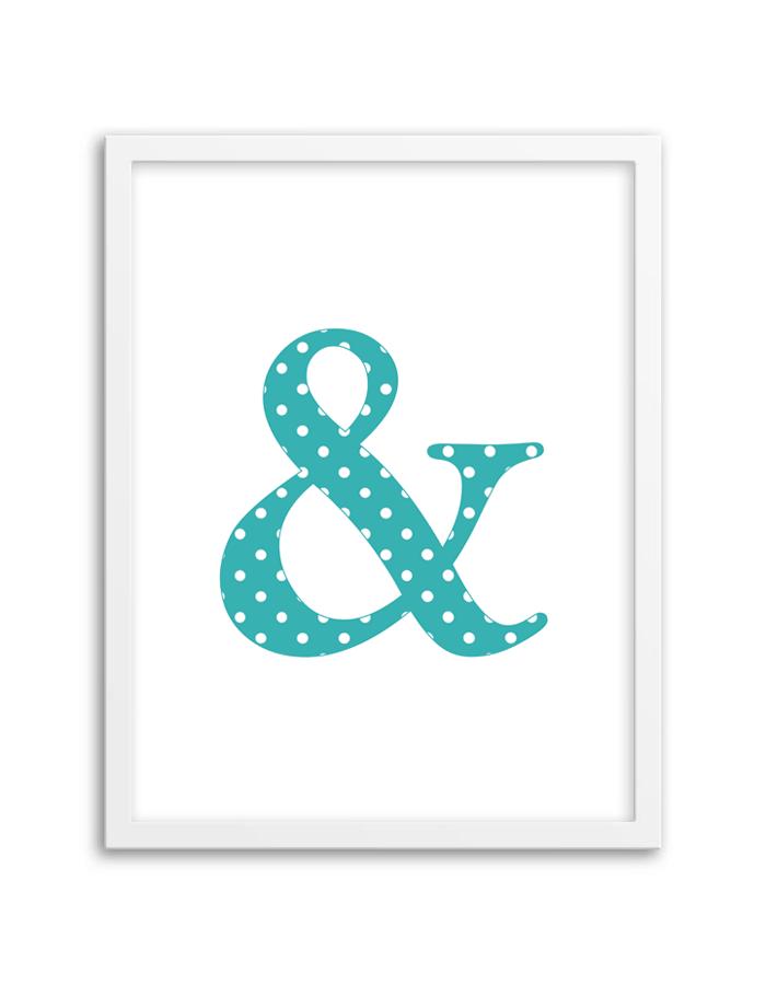 Free Printable Polka Dot Ampersand Wall Art
