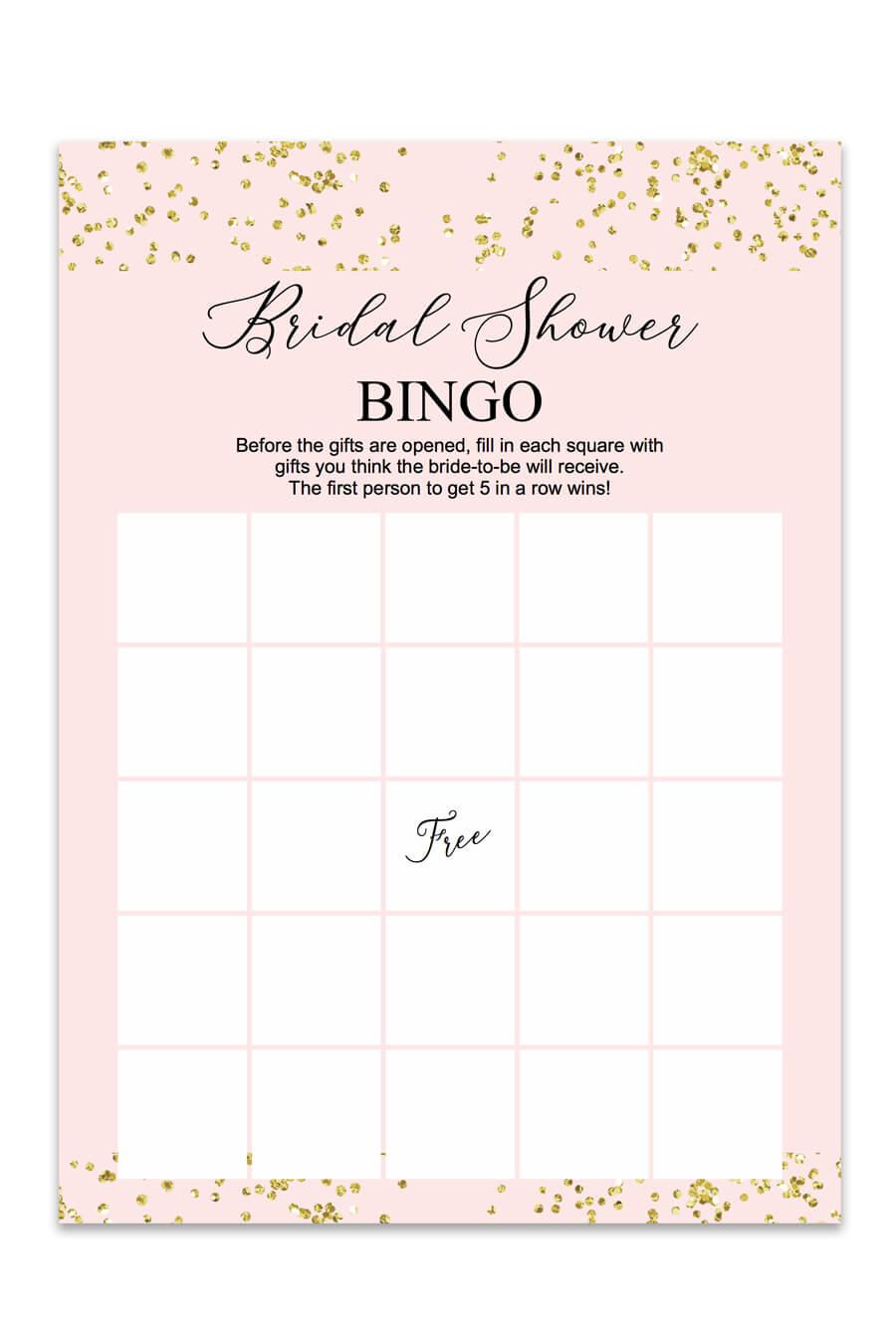 Blush And Confetti Bridal Shower Bingo Chicfetti