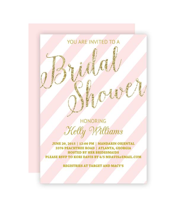 Glitter And Blush Bridal Shower Invitation Chicfetti