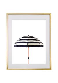 Striped Watercolor Umbrella Wall Art - Free Printable Wall ...