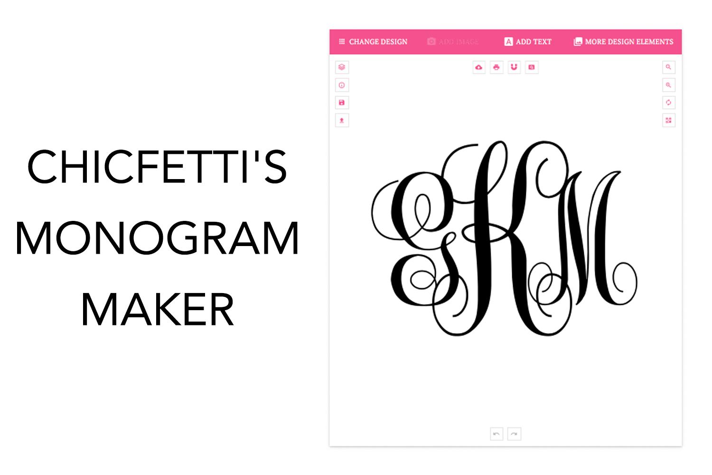 monogram maker make your