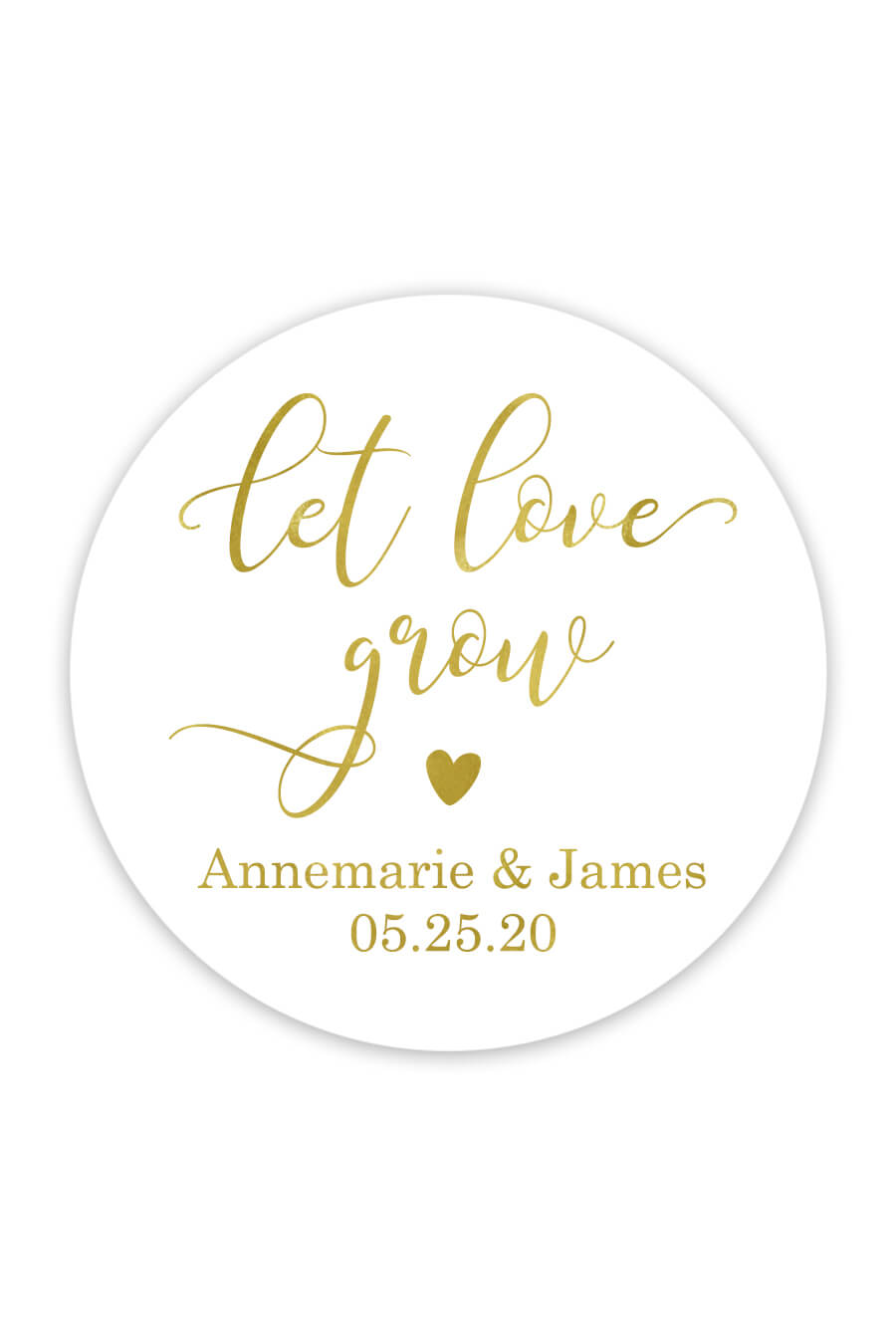 Download Let Love Grow Favor Stickers - Chicfetti