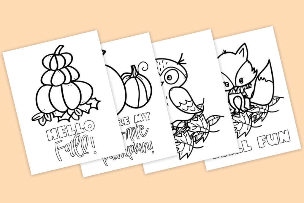 Free Printable Fall Coloring Pages Download Coloring Pages For Fall