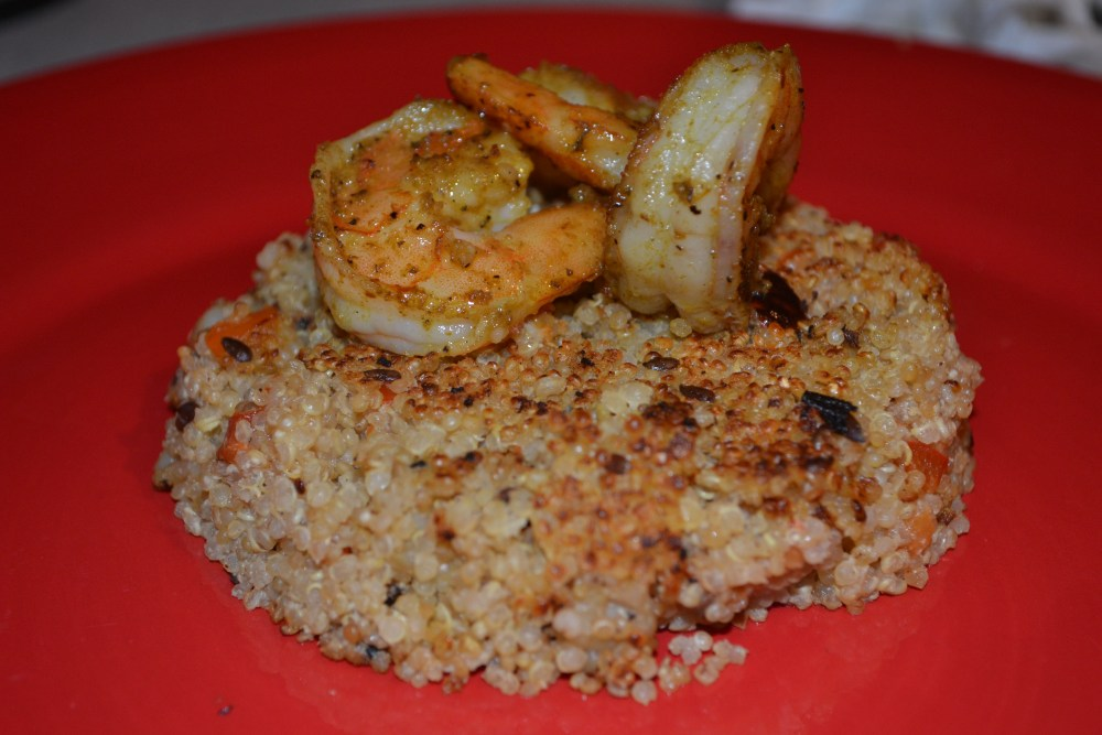 Curry Shrimp Quinoa w/ Roasted Red Peppers (Healthy & Diabetic-Friendly Recipe #20) (6/6)