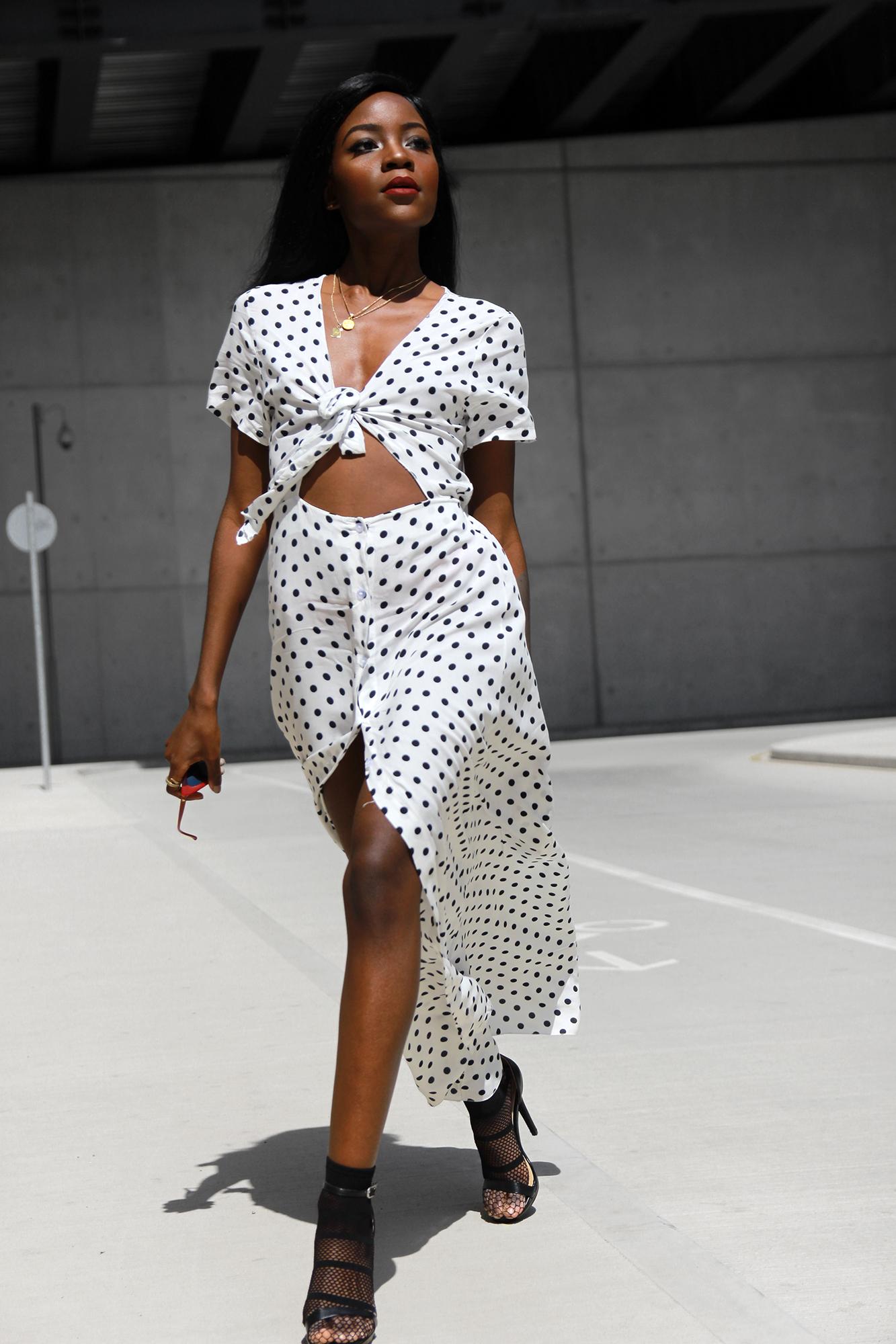 white-polka-dot-dress