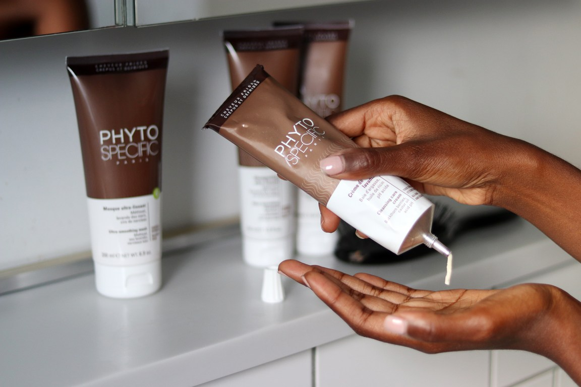 Phyto Specific hair cleanser for relaxed hair.