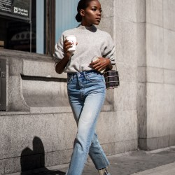 fall, winter street style outfit in London