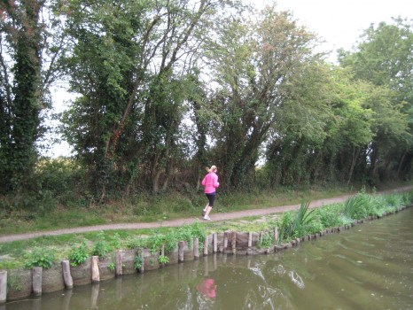 Running along the Chichester Canal