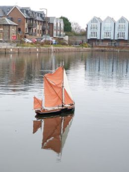 Model boat on Chichester Canal