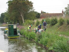Canal bank working party