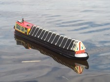 Model canal boat