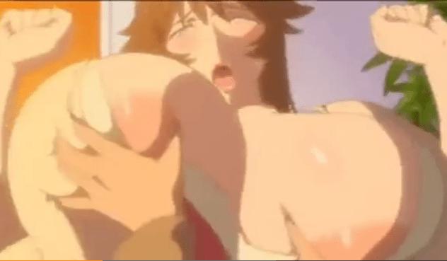 ☆エロアニメ☆手で掴めないレベルの爆乳をモミモミ