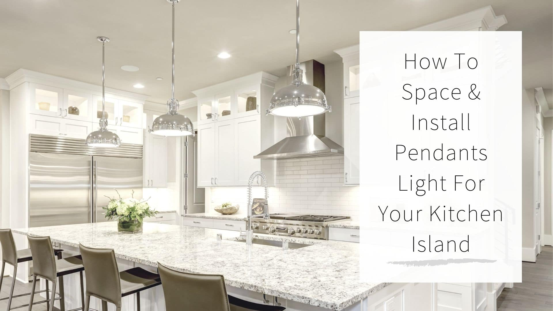 install pendant lights over