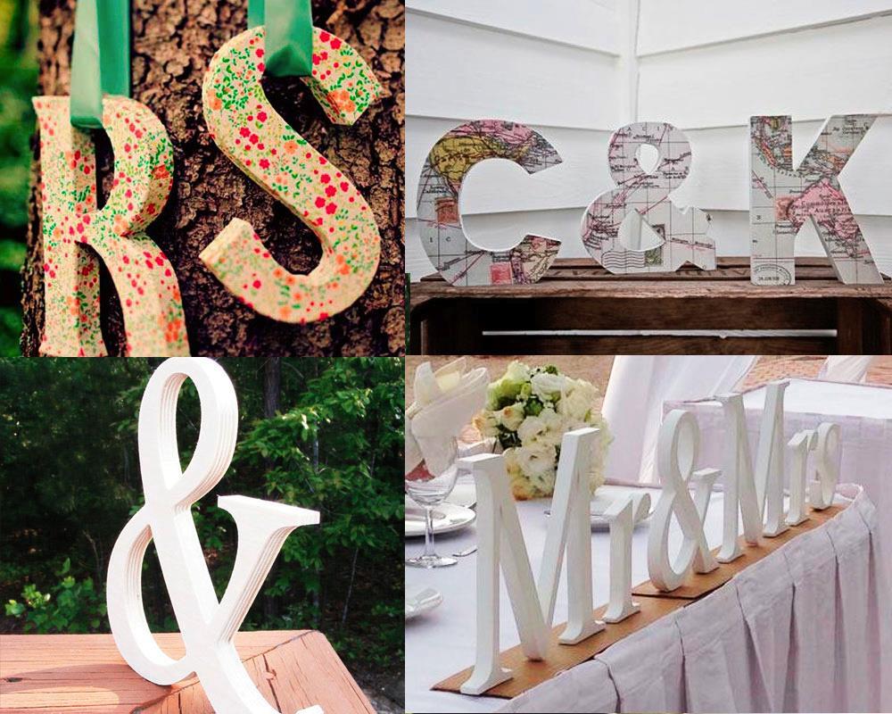 Ideas para decorar tu boda  Letras  ChicHunting