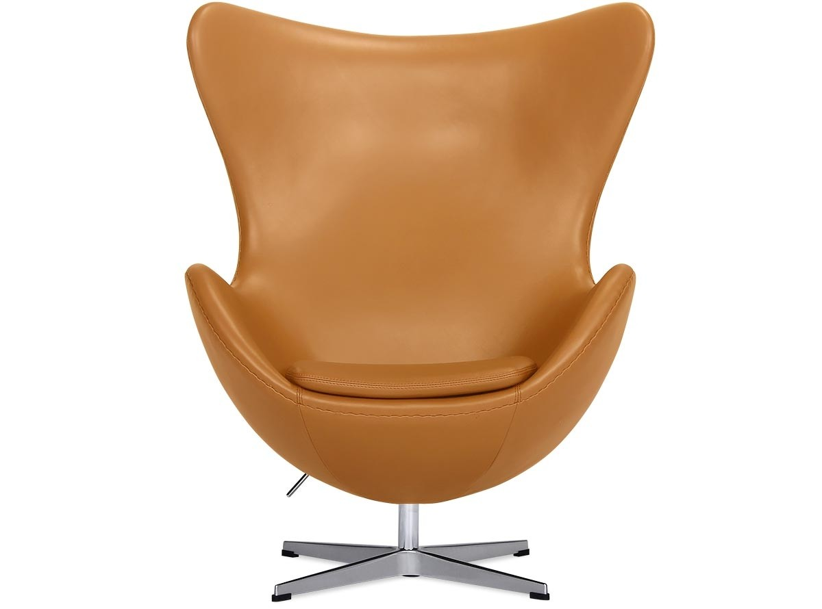 Brown Leather Egg Chair Egg Chair By Arne Jacobsen Leather Platinum Replica Camel