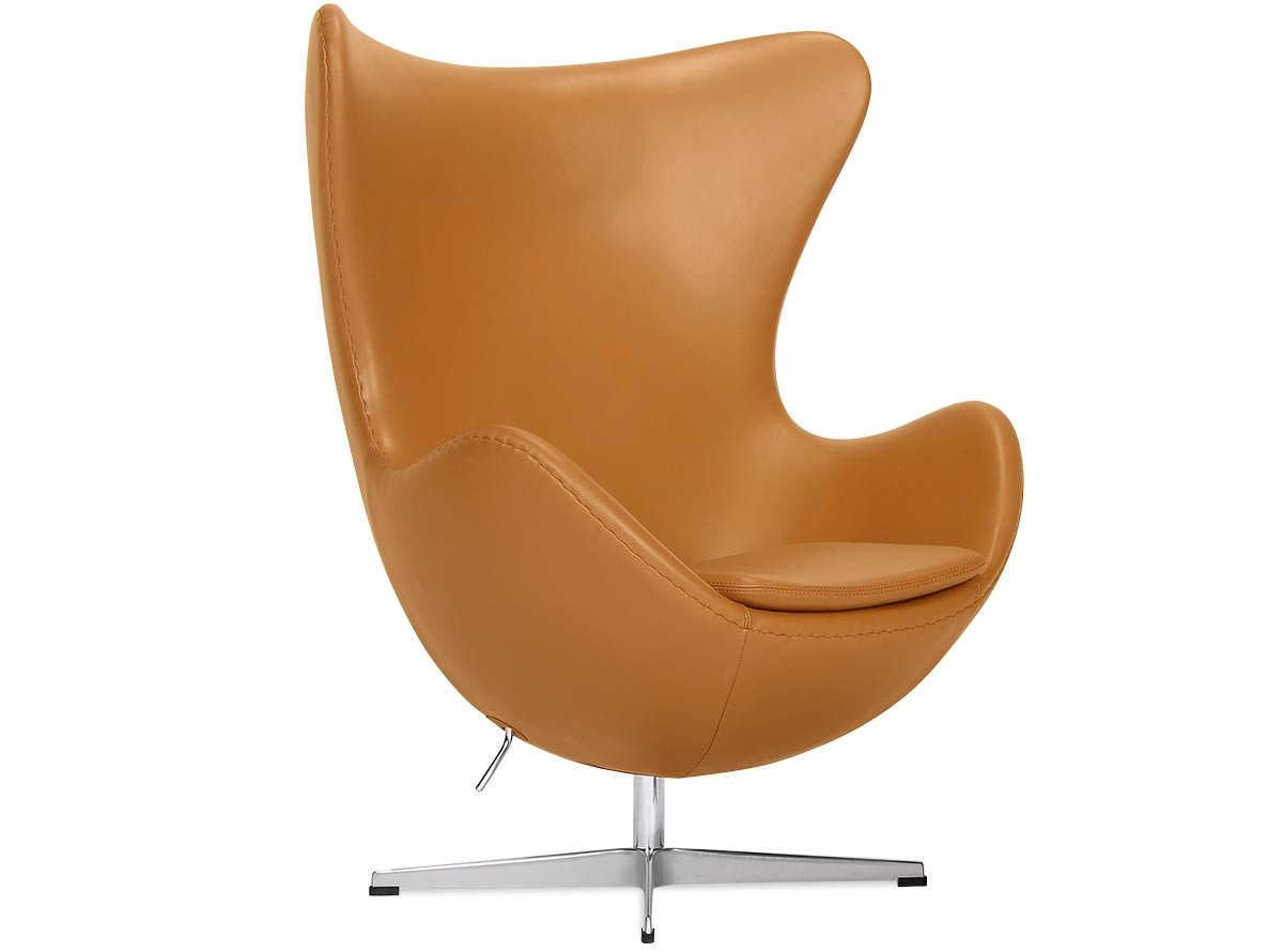 Arne Jacobsen Egg Chair Replica Egg Chair By Arne Jacobsen Leather Platinum Replica Camel