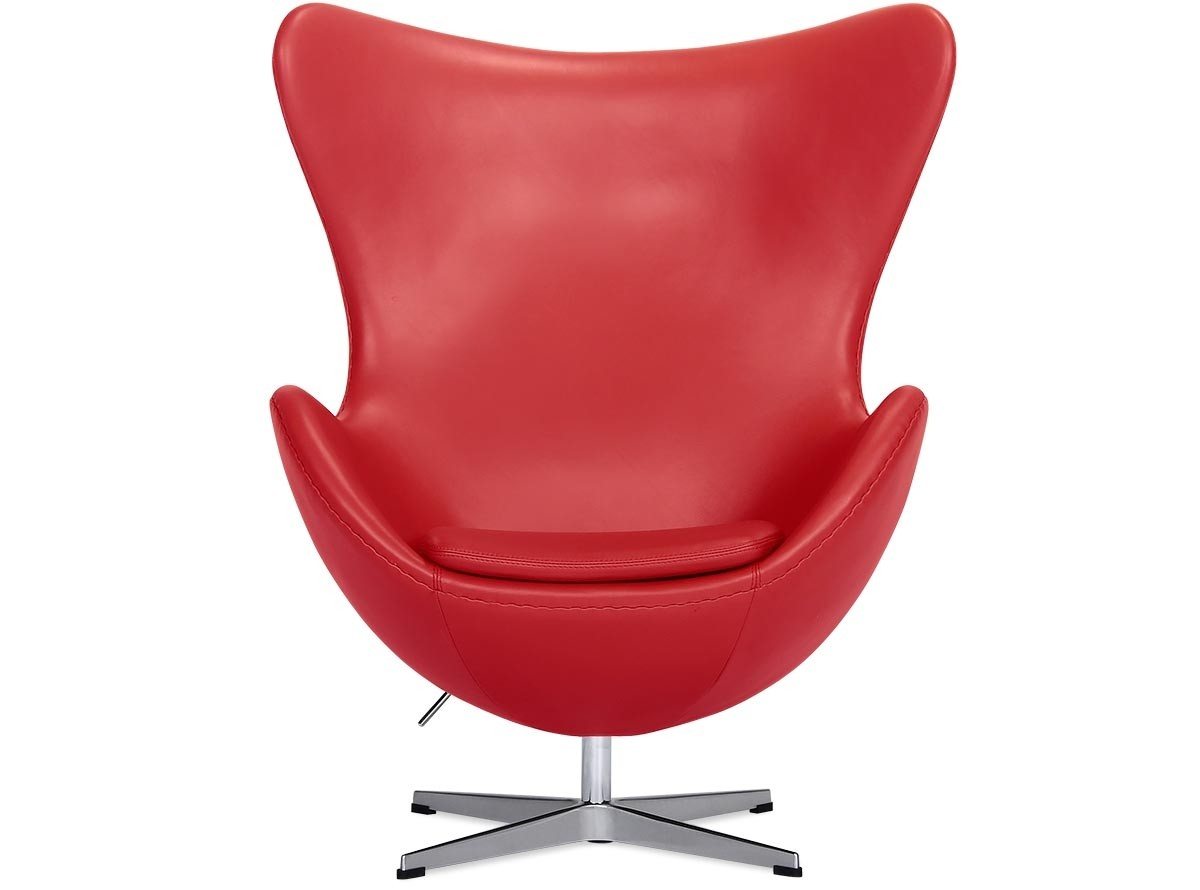 Arne Jacobsen Egg Chair Replica Egg Chair By Arne Jacobsen Leather Platinum Replica Red